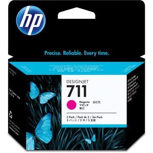 HP 711 magenta 3-pack 29ml Tinta amplio formato CZ135A