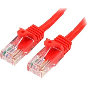 StarTech.com Cable de 1m Rojo de Red Fast Ethernet Cat5e RJ45 sin Enganche