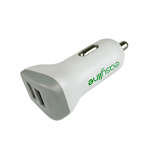 CARGADOR USB DUAL SMARTPHONE Y TABLET PARA CARRO