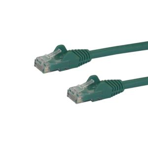 """Este cable Cat6 ofrece conexiones confiables de redes Gigabit, lo cual garantiza una capacidad de alto rendimiento para sus aplicaciones Ethernet exigentes. Encuentre la longitud y el color que necesita Este cable de red verde de 30cm resulta perfecto para su uso en armarios de servidores, paneles de parcheo y concentradores Ethernet. Cable para aplicaciones de distancia corta, como conexiones punto a punto en racks y a través de racks de servidores y conmutadores de redes. Para instalaciones de red más sencillas, nuestros cables de red Cat6 están disponibles en una amplia gama de longitudes y colores. Esto garantiza que puede contar con el tamaño de cable adecuado cuando lo necesite, además de permitirle una mejor organización de sus conexiones mediante distintos códigos de color. Los clips RJ45 Snagless (a prueba de enganches) protegen sus conexiones de red Para facilitar la instalación de estos cables duraderos, sus conectores a prueba de enganche (""""Snagless"""") protegen los clips RJ45 durante la instalación, lo cual evita enganches o daños. También se incluye revestimiento moldeado que reduce la tensión en los puntos de terminación de los conectores RJ45, lo cual evita que el cable se doble en ángulos agudos. Esto evita el riesgo de daños en el cable que puedan causar una disminución del rendimiento y de la conectividad de la red. 100% de cobre: valor de calidad excepcional Obtenga el mayor beneficio de su inversión en cables, gracias a nuestros cables Ethernet Cat6. Cada uno de nuestros cables de red ha sido fabricado y sometido a pruebas de forma cuidadosa, con conductores de cobre, para mantener el nivel NEXT ("""" Near-End Crosstalk"""", paradiafonía) bajo límites aceptables. Alambre de 24AWG para una conexión de red de alto rendimiento Mediante el uso de cables fabricados con alambre de cobre de 24AWG, se garantiza el más alto rendimiento para aplicaciones de conexiones Ethernet exigentes, como PoE (""""Power-over-Ethernet"""", alimentación por Ethernet) y transmisión de"""