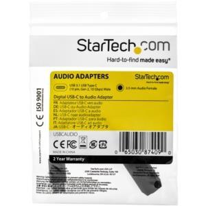 StarTech.com StarTech.com USBCAUDIO Convertidor de Audio USB-C a 3.5mm