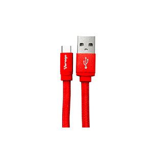 Vorago Cable Cab-123 USB-Tipo C 1 Metro Carga Rapida Rojo