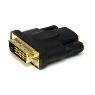 Adaptador HDMI a DVI - DVI-D Macho - HDMI Hembra - Convertidor - Negro StarTech.com HDMIDVIFM