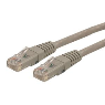 Cable de Red 3m Categoría Cat6 UTP RJ45 Gigabit Ethernet ETL - Patch Moldeado - Gris StarTech.com C6PATCH10GR