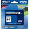Cinta para etiquetas Brother P-touch TZE221 - 9.53mm Ancho x 7.99m Longitud - Rectángulo - Blanco - 1 Solamente
