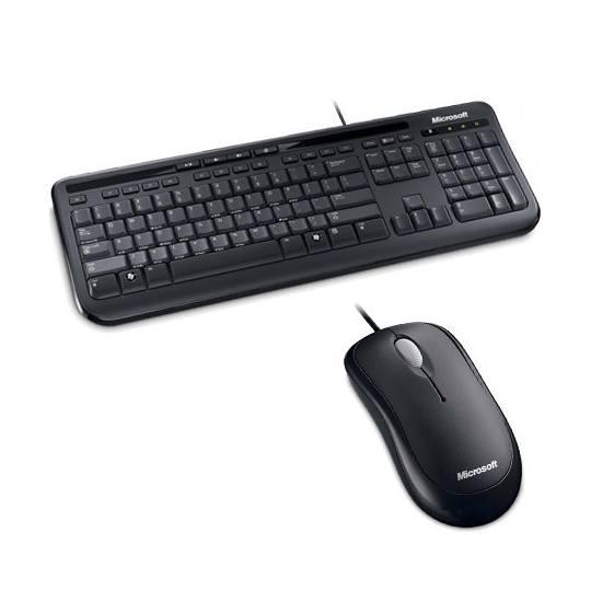 Kit Teclado y ratón Microsoft - USB Cable Teclado - USB Cable Mouse - Óptico - Simétrico