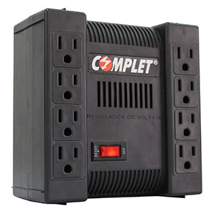 Regulador d Voltaje con Supresor Integrado RPC 1300VA COMPLET 8 Contactos.
