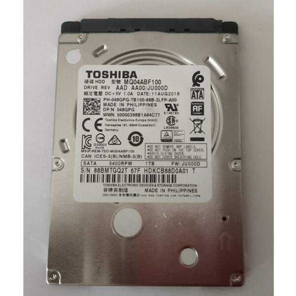Disco Duro Toshiba Mq04abf100, 1tb, 6 Gbit/s, 128mb Cache